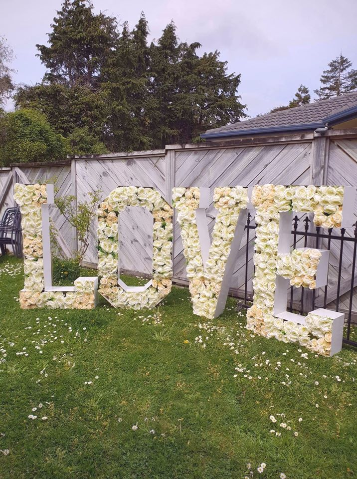 Photo of item: Floral LOVE Letters